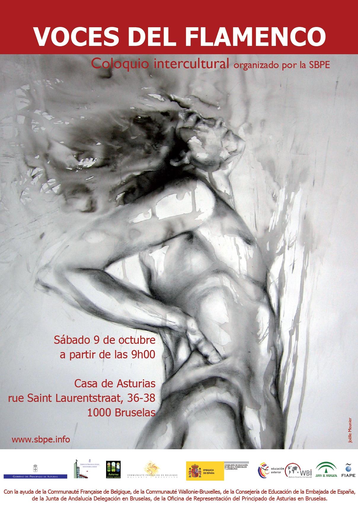 Affiche réalisée pour le Colloque 'VOCES DEL FLAMENCO'